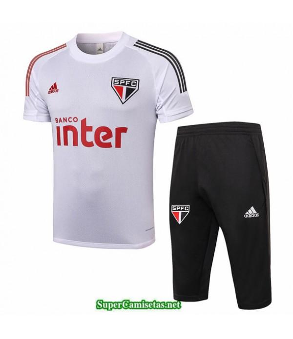 Tailandia Camiseta Kit De Entrenamiento Sao Paulo 3/4 Blanco 2020