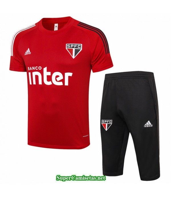 Tailandia Camiseta Kit De Entrenamiento Sao Paulo 3/4 Rojo 2020