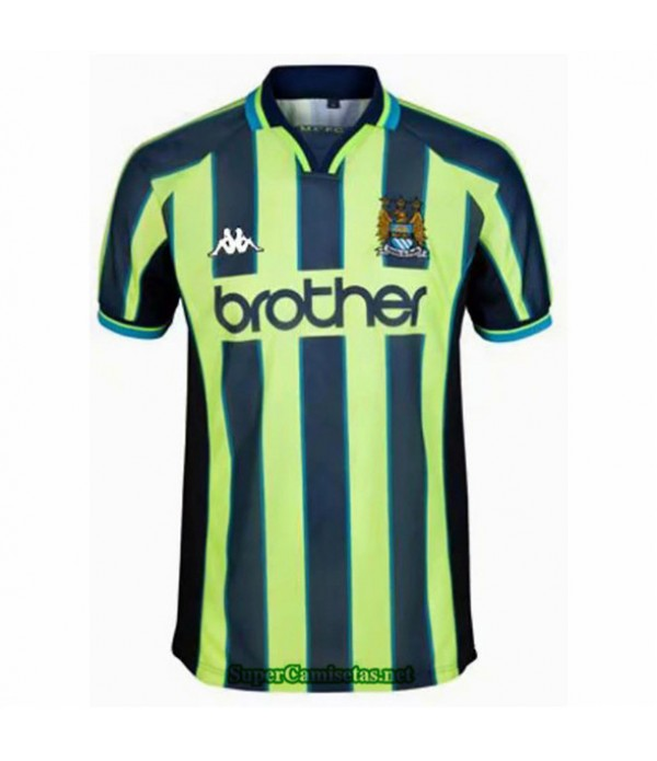 Tailandia Camisetas Clasicas Manchester City Hombre 1998 99