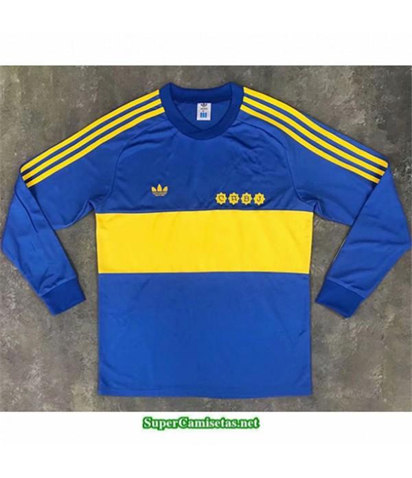Tailandia Camisetas Clasicas Primera Boca Juniors Hombre Manga Larga 1981
