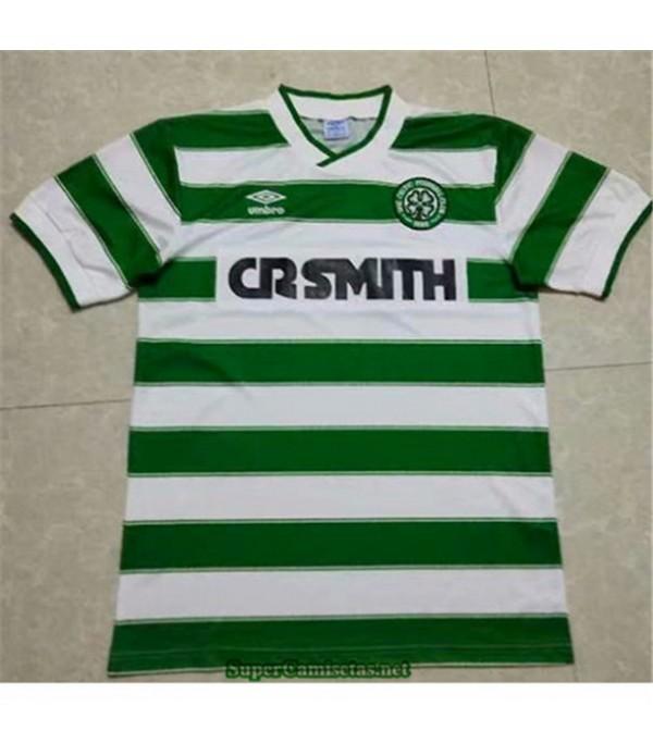 Tailandia Camisetas Clasicas Primera Celtic Hombre 1985 86