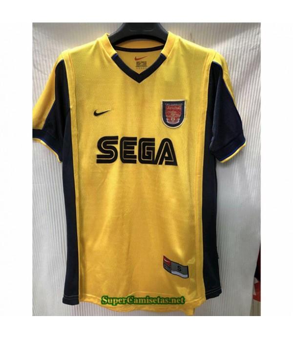 Tailandia Camisetas Clasicas Segunda Arsenal Hombre 1999 00