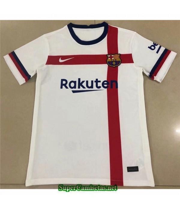 Tailandia Equipacion Camiseta Barcelona Blanco/roj...