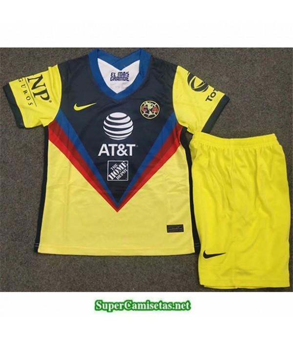 Tailandia Equipacion Camiseta Cf América Niños Amarillo 2020