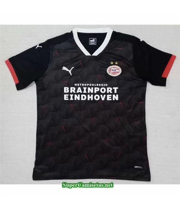 Tailandia Equipacion Camiseta Psv Eindhoven Negro 2020