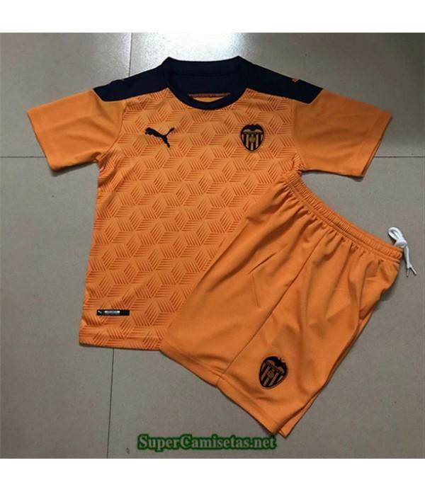 Tailandia Equipacion Camiseta Valencia Niños Naranja 2020