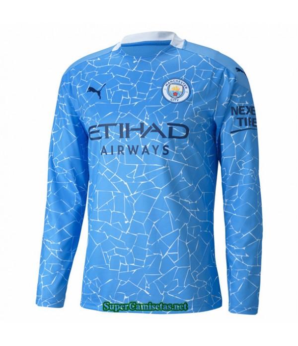 Tailandia Primera Equipacion Camiseta Manchester City Manga Larga 2020
