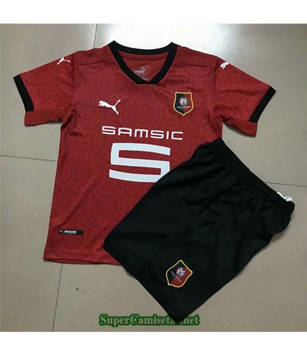 Tailandia Primera Equipacion Camiseta Stade Rennais Niños 2020