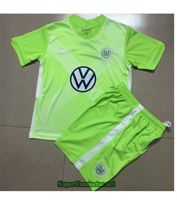 Tailandia Primera Equipacion Camiseta Vfl Wolfsburg Niños 2020
