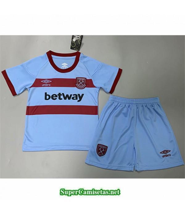 Tailandia Segunda Equipacion Camiseta West Ham United Niños 2020