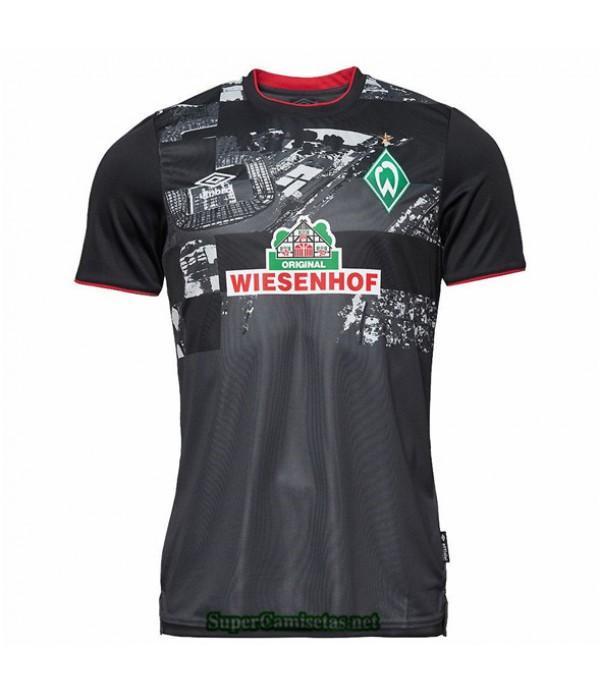 Tailandia Tercera Equipacion Camiseta Werder Bremen Negro 2020
