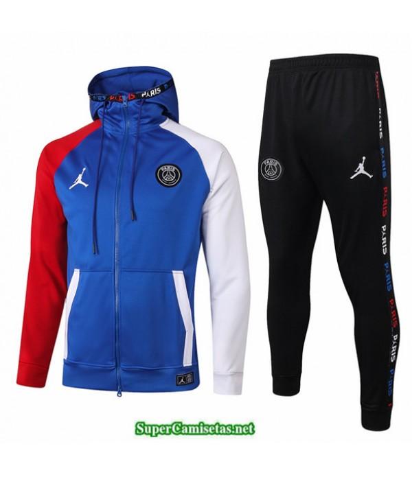 Tailandia Veste Sudaderas De Futbol Jordan Azul 2020