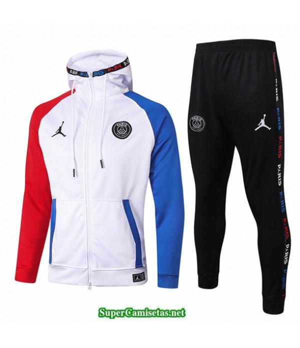 Tailandia Veste Sudaderas De Futbol Jordan Blanco 2020