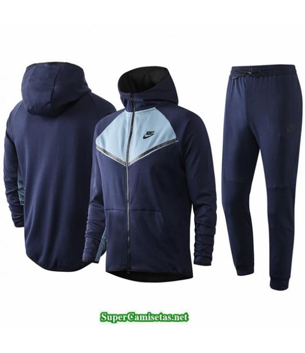 Tailandia Veste Sudaderas De Futbol Nike Azul Oscuro/azul Claro 2020