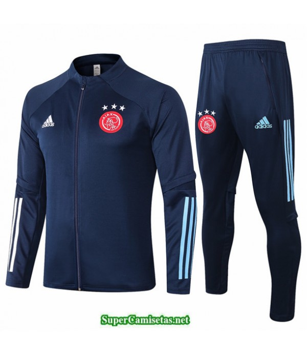 Tailandia Veste Survetement Afc Ajax Azul Oscuro 2020