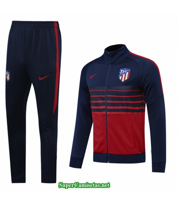 Tailandia Veste Survetement Atletico Madrid Azul Oscuro/rojo 2020