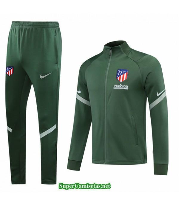 Tailandia Veste Survetement Atletico Madrid Verde 2020