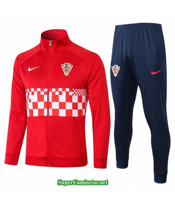 Tailandia Veste Survetement Croacia Rojo 2020