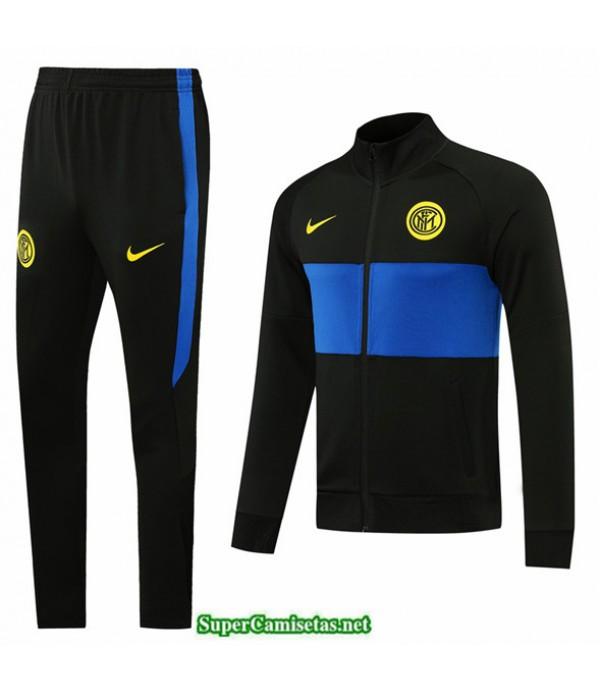 Tailandia Veste Survetement Inter Milan Negro 2020