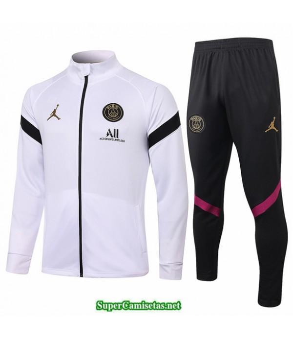 Tailandia Veste Survetement Jordan Blanco/negro 2020
