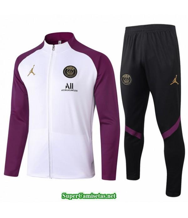 Tailandia Veste Survetement Jordan Blanco/púrpura 2020