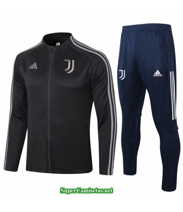 Tailandia Veste Survetement Juventus Negro/gris 2020 Cuello Alto