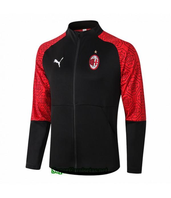 Tailandia Camiseta Ac Milan Chaqueta Negro 2020/21