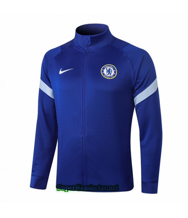 Tailandia Camiseta Chelsea Chaqueta Azul Cuello Alto 2020/21