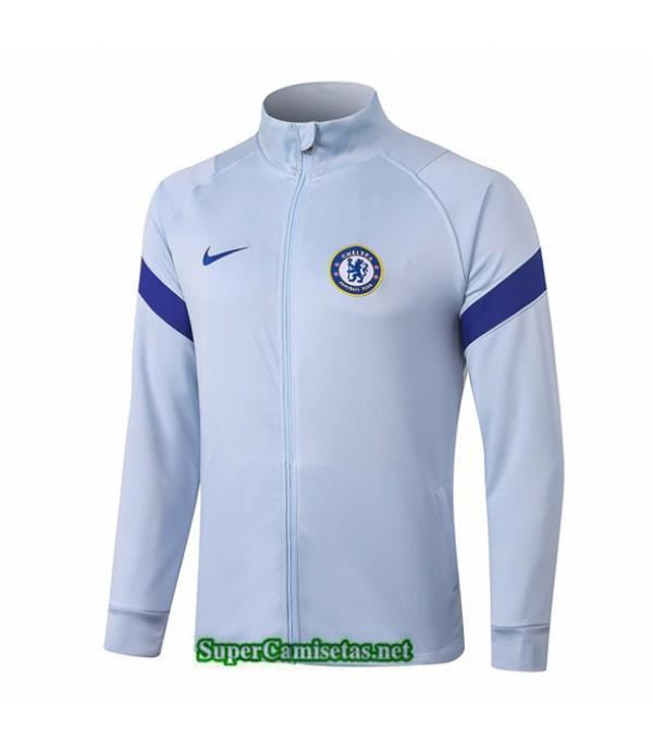Tailandia Camiseta Chelsea Chaqueta Cuello Alto Gris Claro 2020/21