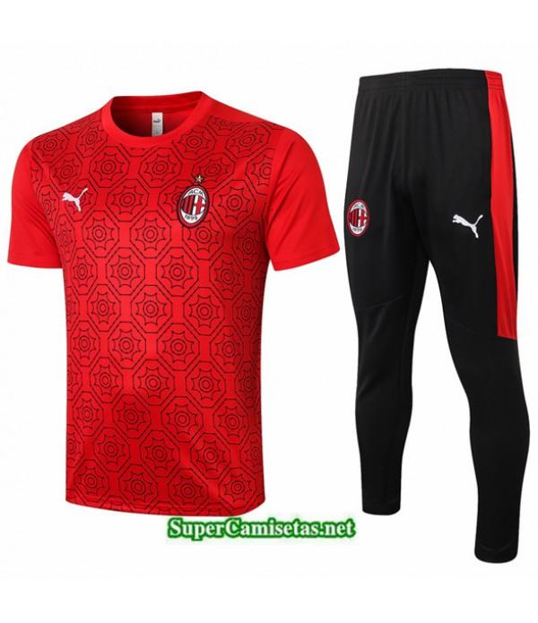 Tailandia Camiseta Kit De Entrenamiento Ac Milan Rojo 2020/21