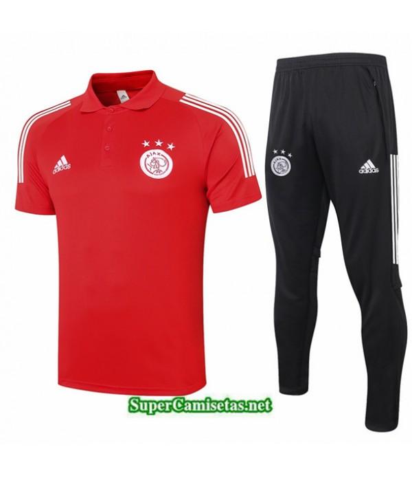 Tailandia Camiseta Kit De Entrenamiento Afc Ajax Polo Rojo 2020/21