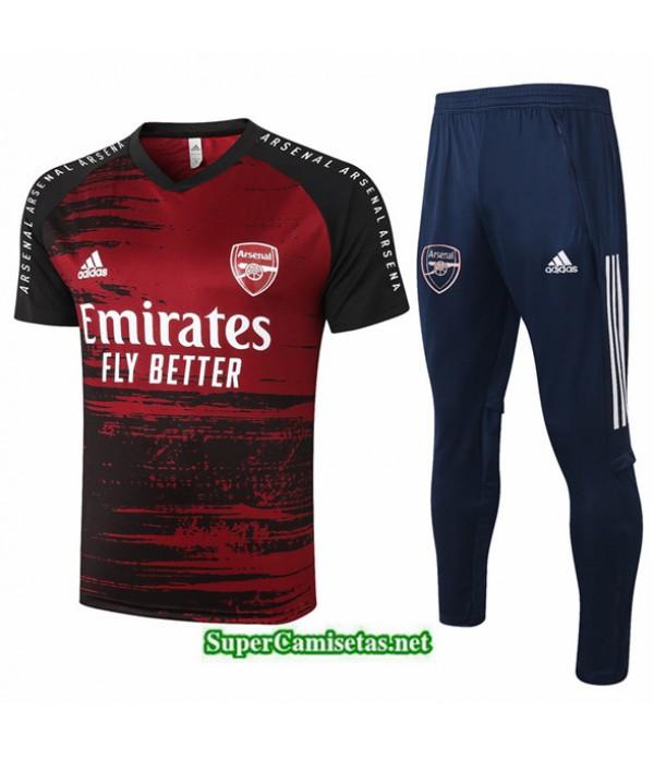 Tailandia Camiseta Kit De Entrenamiento Arsenal Rojo Oscuro 2020/21