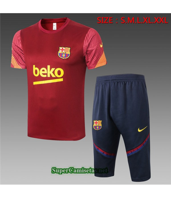 Tailandia Camiseta Kit De Entrenamiento Barcelona 3/4 Bordeaux 2020/21