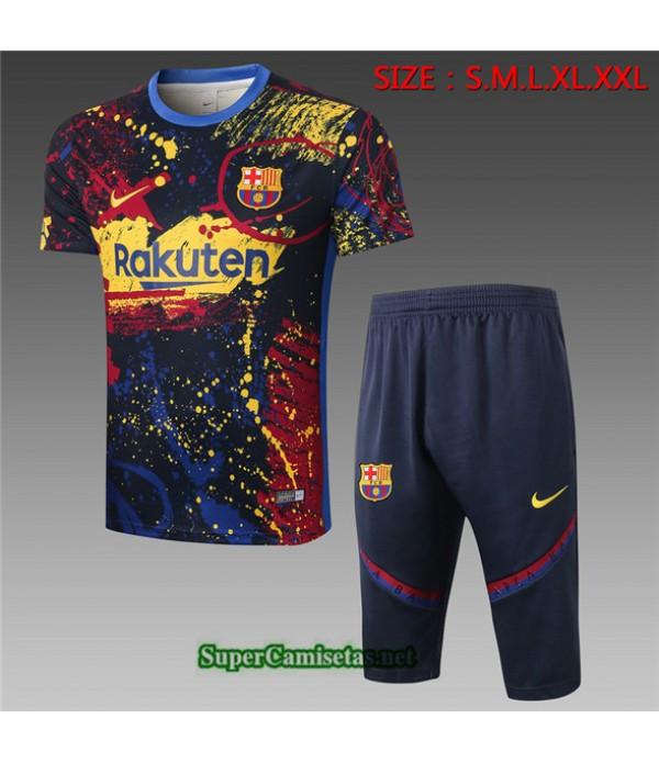 Tailandia Camiseta Kit De Entrenamiento Barcelona 3/4 Verde Negroâtre 2020/21