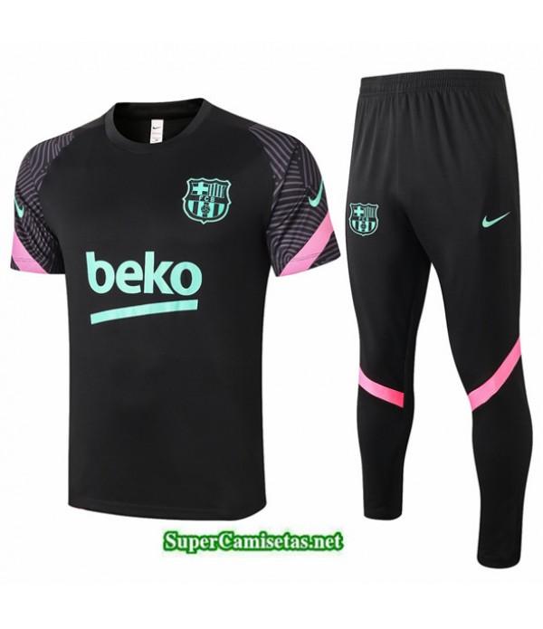 Tailandia Camiseta Kit De Entrenamiento Barcelona Negro 2020/21