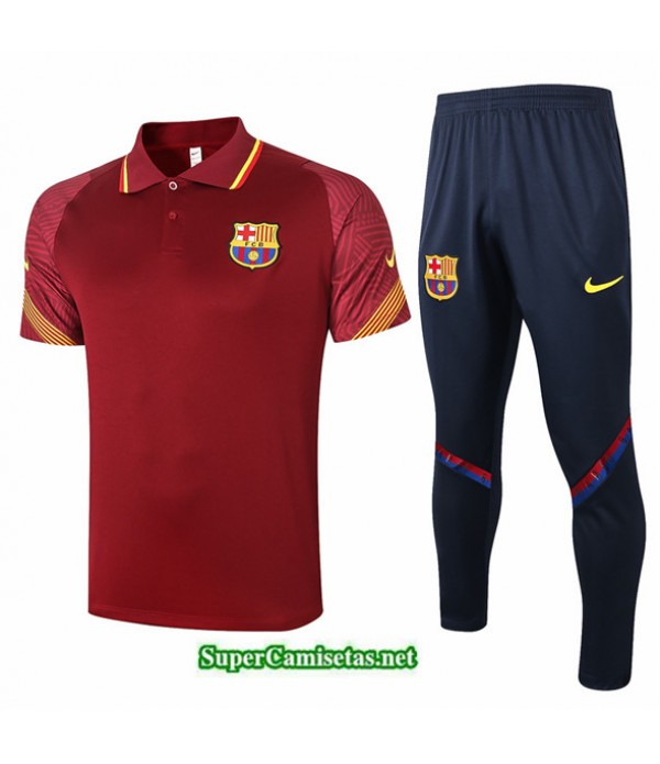 Tailandia Camiseta Kit De Entrenamiento Barcelona Polo Bordeaux 2020/21