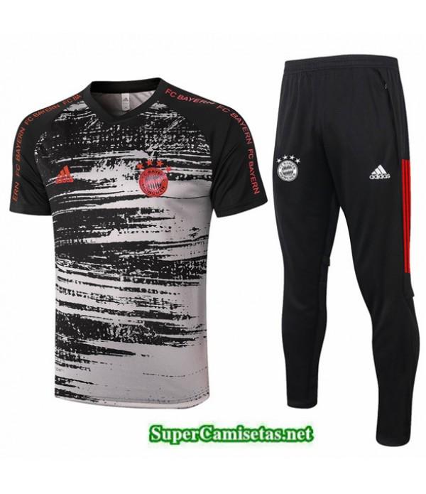 Tailandia Camiseta Kit De Entrenamiento Bayern Munich Polo Negro/gris 2020/21