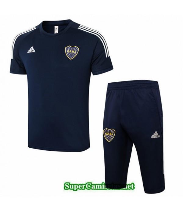 Tailandia Camiseta Kit De Entrenamiento Boca Juniors 3/4 Azul Marino 2020/21