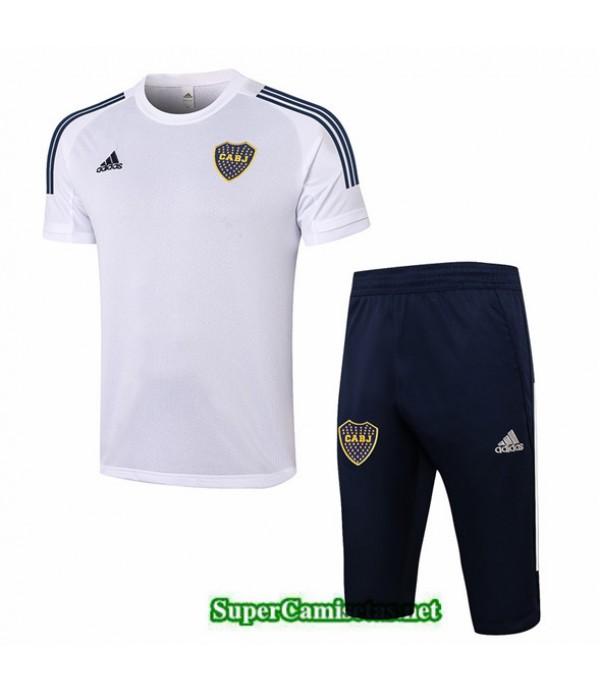 Tailandia Camiseta Kit De Entrenamiento Boca Juniors 3/4 Blanco 2020/21