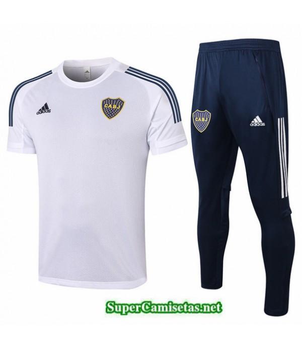 Tailandia Camiseta Kit De Entrenamiento Boca Juniors Blanco 2020/21