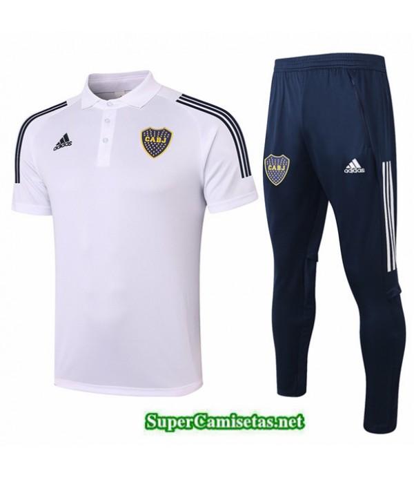 Tailandia Camiseta Kit De Entrenamiento Boca Juniors Polo Blanco 2020/21