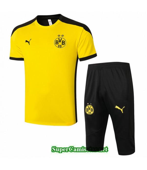 Tailandia Camiseta Kit De Entrenamiento Borussia Dortmund 3/4 Amarillo 2020/21