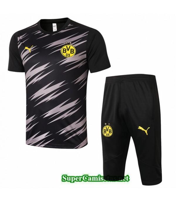 Tailandia Camiseta Kit De Entrenamiento Borussia Dortmund 3/4 Negro 2020/21