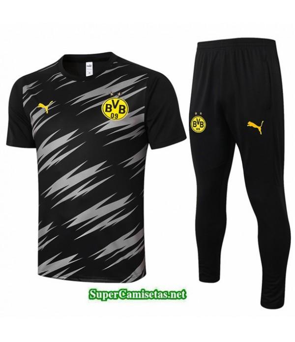 Tailandia Camiseta Kit De Entrenamiento Borussia Dortmund Negro 2020/21