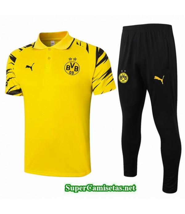Tailandia Camiseta Kit De Entrenamiento Borussia Dortmund Polo Amarillo 2020/21