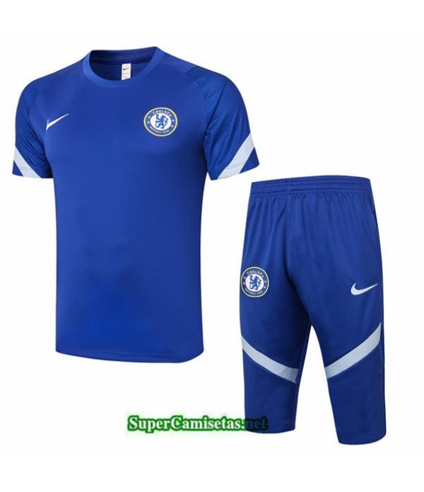 Tailandia Camiseta Kit De Entrenamiento Chelsea 3/4 Azul 2020/21