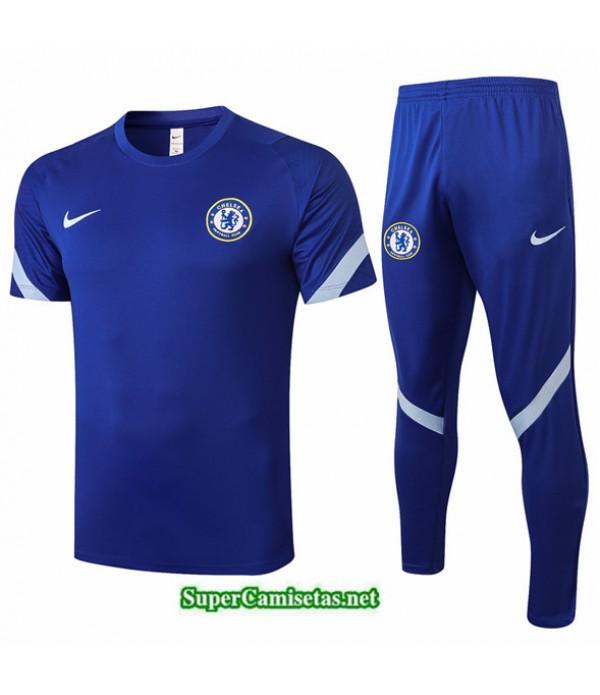 Tailandia Camiseta Kit De Entrenamiento Chelsea Azul 2020/21