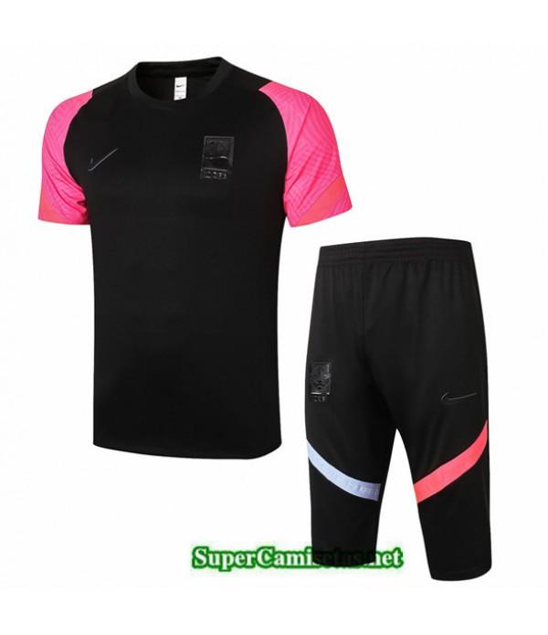 Tailandia Camiseta Kit De Entrenamiento Corea 3/4 Negro 2020/21