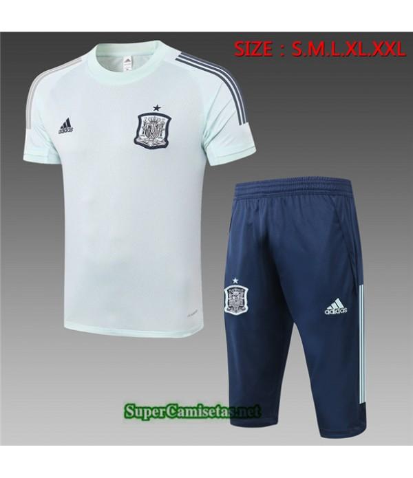 Tailandia Camiseta Kit De Entrenamiento España 3/4 Verde Claro 2020/21