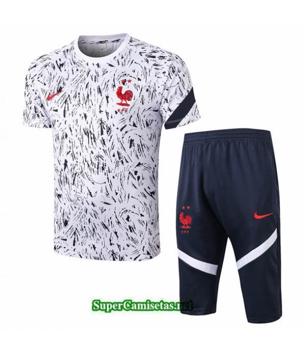 Tailandia Camiseta Kit De Entrenamiento Francia 3/4 Blanco 2020/21
